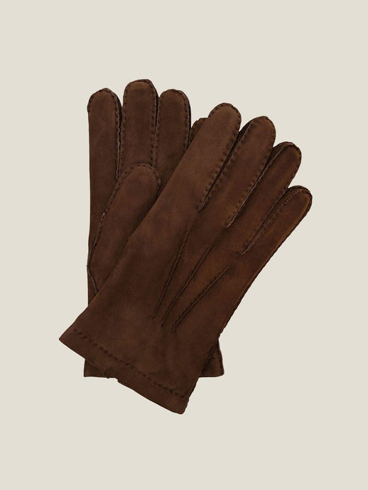 Luca Faloni Nocciola Brown Leather Gloves Made in Italy