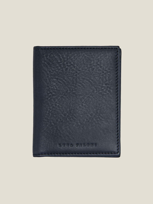Luca Faloni Ink Blue Bifold Cardholder Made in Italy