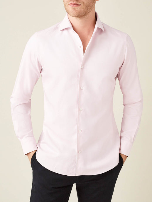 Luca Faloni Light Pink Oxford Cotton Shirt Made in Italy