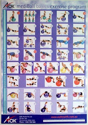 AOK Mediball Exercise Wall Chart