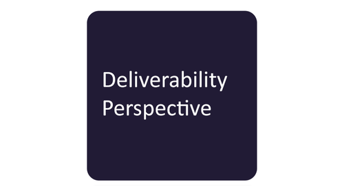 Deliverability Perspective