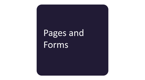 Pages and Forms