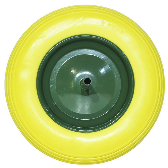 Puncture proof wheel for wheelbarrow