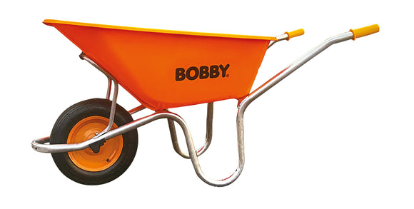 Bobby Wheelbarrow Orange Plastic Tray 100L