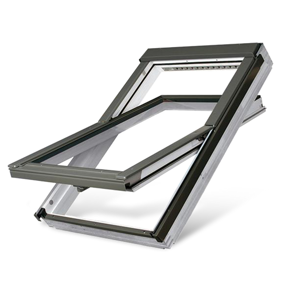 FAKRO FTU-V (U3) WHITE POLYURETHANE CENTRE PIVOT ROOF WINDOW