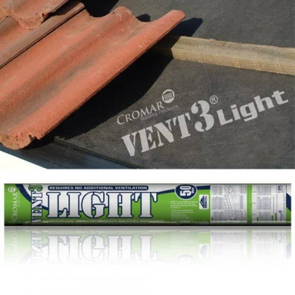 ALPHACHEM VENT 3 LIGHT 1.5 X 50 MTR BREATHER FELT