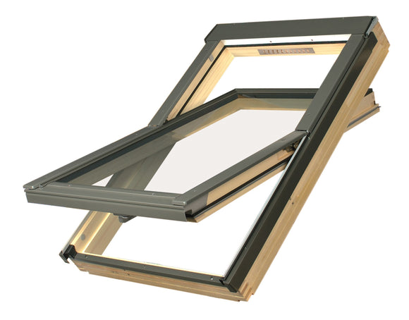 FAKRO FTS-V PINE CENTRE PIVOT ROOF WINDOW