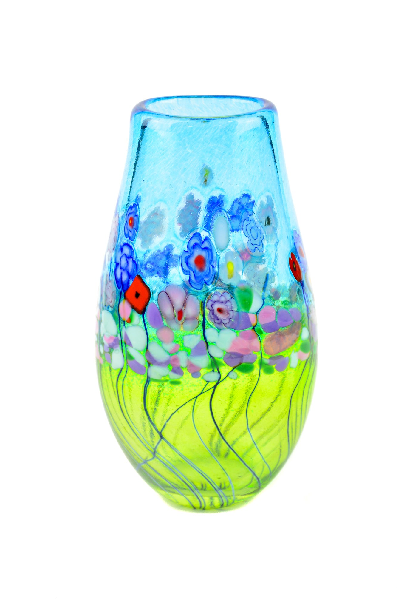 Flower Bouquet, Teardrop Vase