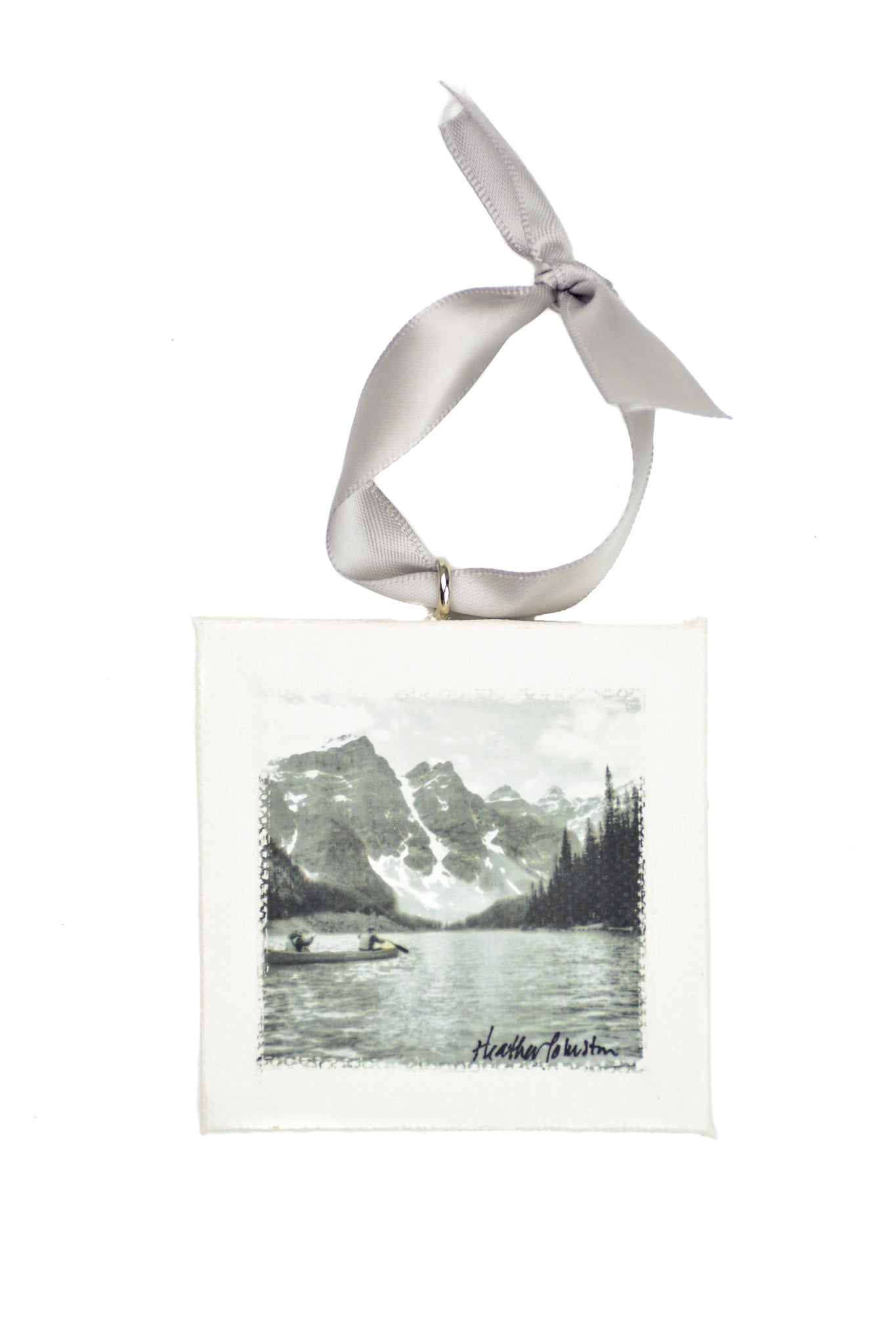Moraine Lake Mini Canvas Ornament