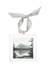 Rundle Mountain Mini Canvas Ornament