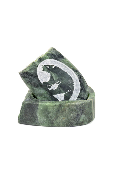 Bear Soapstone Box
