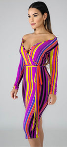 Shaunie Stripe Dress. Use Coupon Code: FLASH40