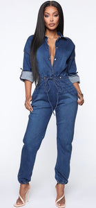 Jazzi Jean Jumpsuit. Use Coupon Code: FLASH40