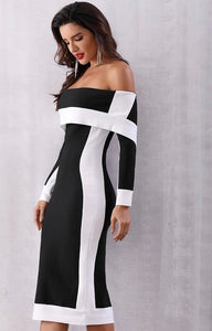 Marilyn Off The Shoulder Bandage Dress. Use Coupon Code: FLASH40