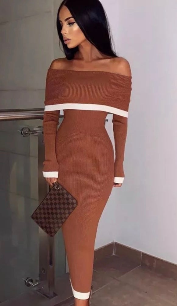 Natalie Off The Shoulder Bandage Dress.
