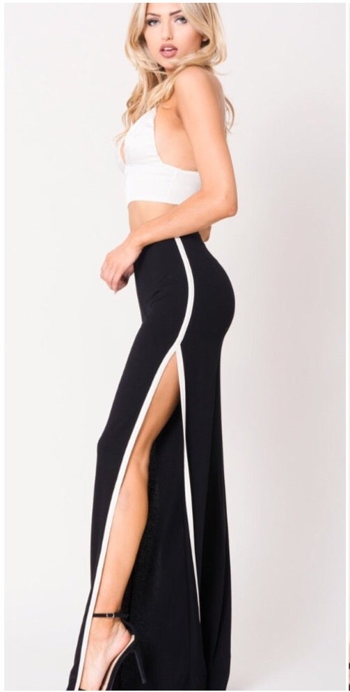 Slit Track Pants. Use Coupon Code: FLASH40