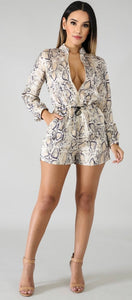Racheal Snakeskin Silky Romper . Use Coupon Code: FLASH40