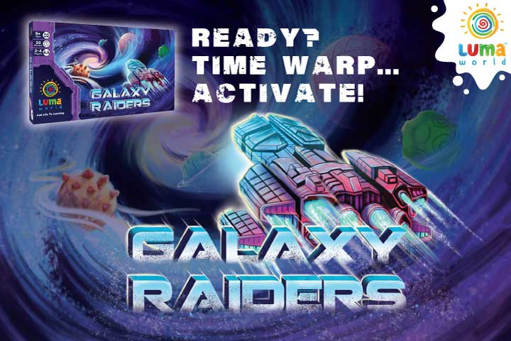 Galaxy Raiders- board game for kids from luma world