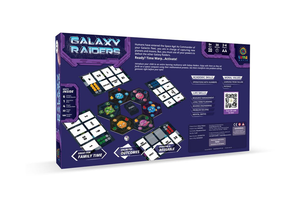 galaxy raiders-box image-best strategic board game for kids from lumaworld