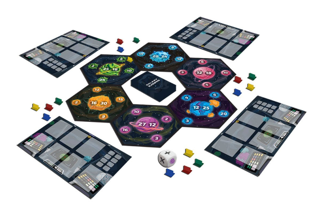 Galaxy raiders- Inside box- best board game for kids from luma world