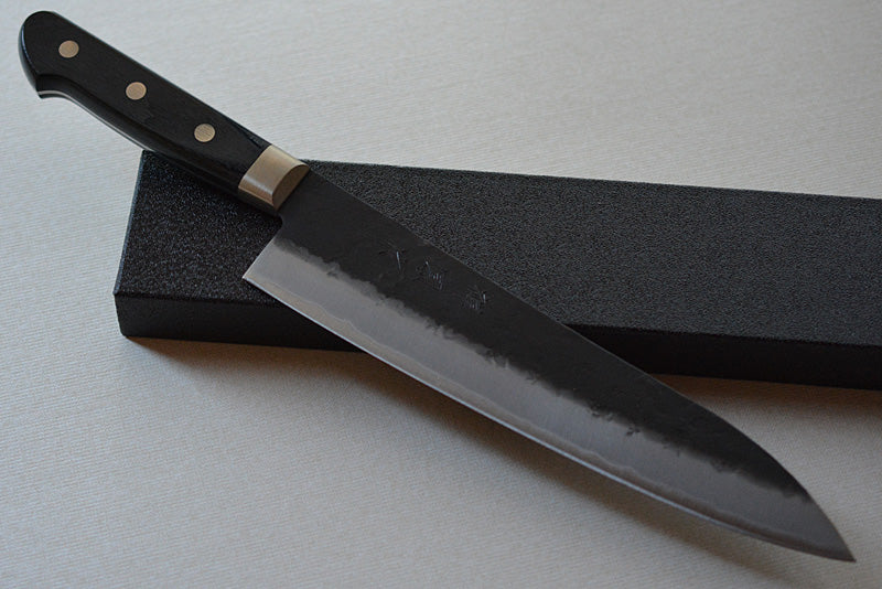 CH003 Japanese Gyuto knife Zenpou - Aogami super steel black 210mm