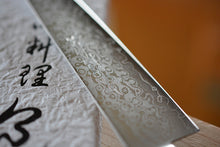 Load image into Gallery viewer, CY202 Japanese Petty knife Zenpou - VG10 Damascus steel 140mm