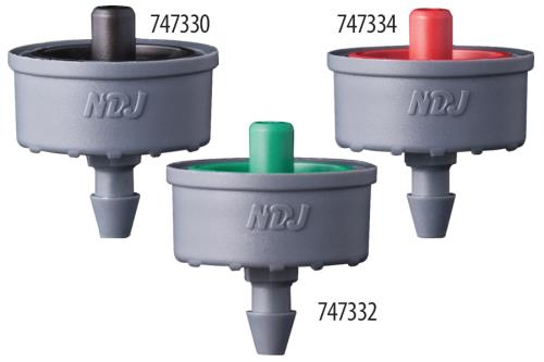 Jain Irrigation Click-Tif Pressure Compensated Button Drippers with Check Valve