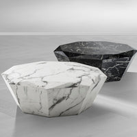 Load image into Gallery viewer, Coffee Table Diamond White Faux Marble