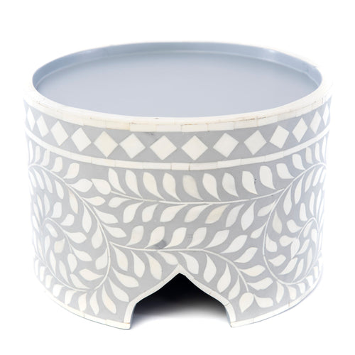Bone Inlay Grey Floral Chocolate Stand