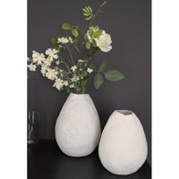 Load image into Gallery viewer, Vase Ceramic White D16 x H19.5 cm