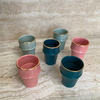 Load image into Gallery viewer, Cup Beldi Azza Plain Old Pink Gold Ceramic