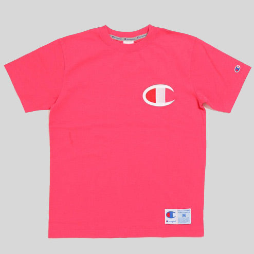 04f6062d7 Champion Japan Embroidered Big Logo Tee Deep Pink (C3-F362-930 ...
