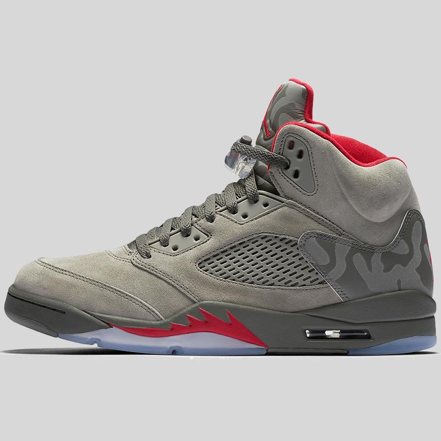 nike air jordan 5 retro dark stucco university red river rock (136027 051