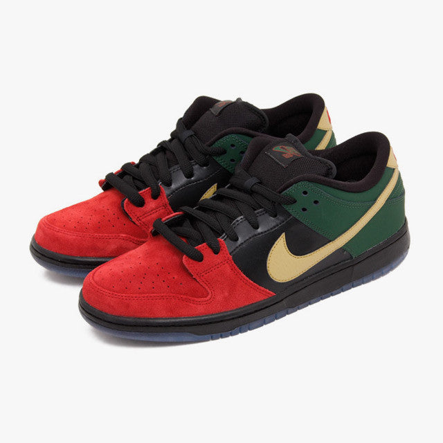 nike dunk low black red
