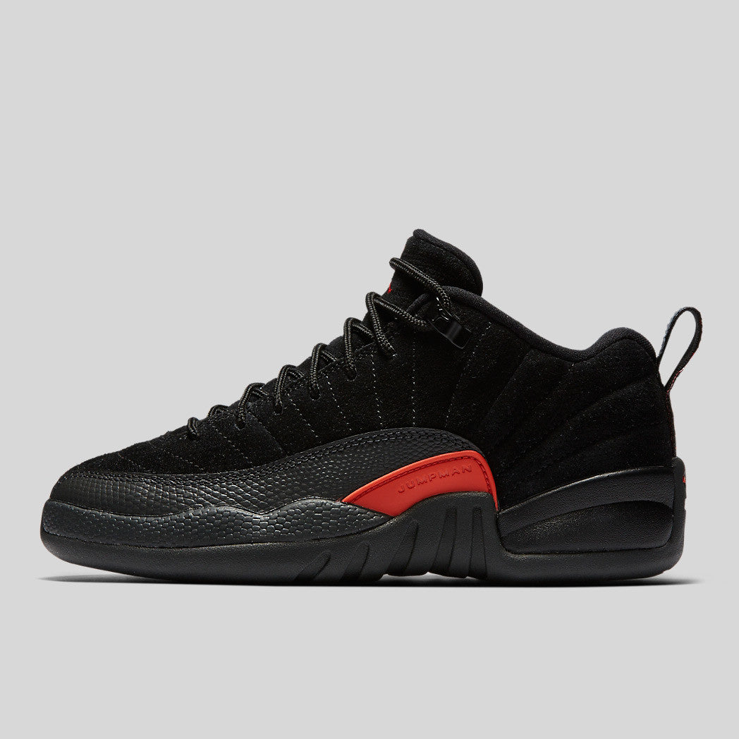 reputable site 78301 68223 Nike Air Jordan 12 Retro Low BG (GS) Black Max Orange Anthracite