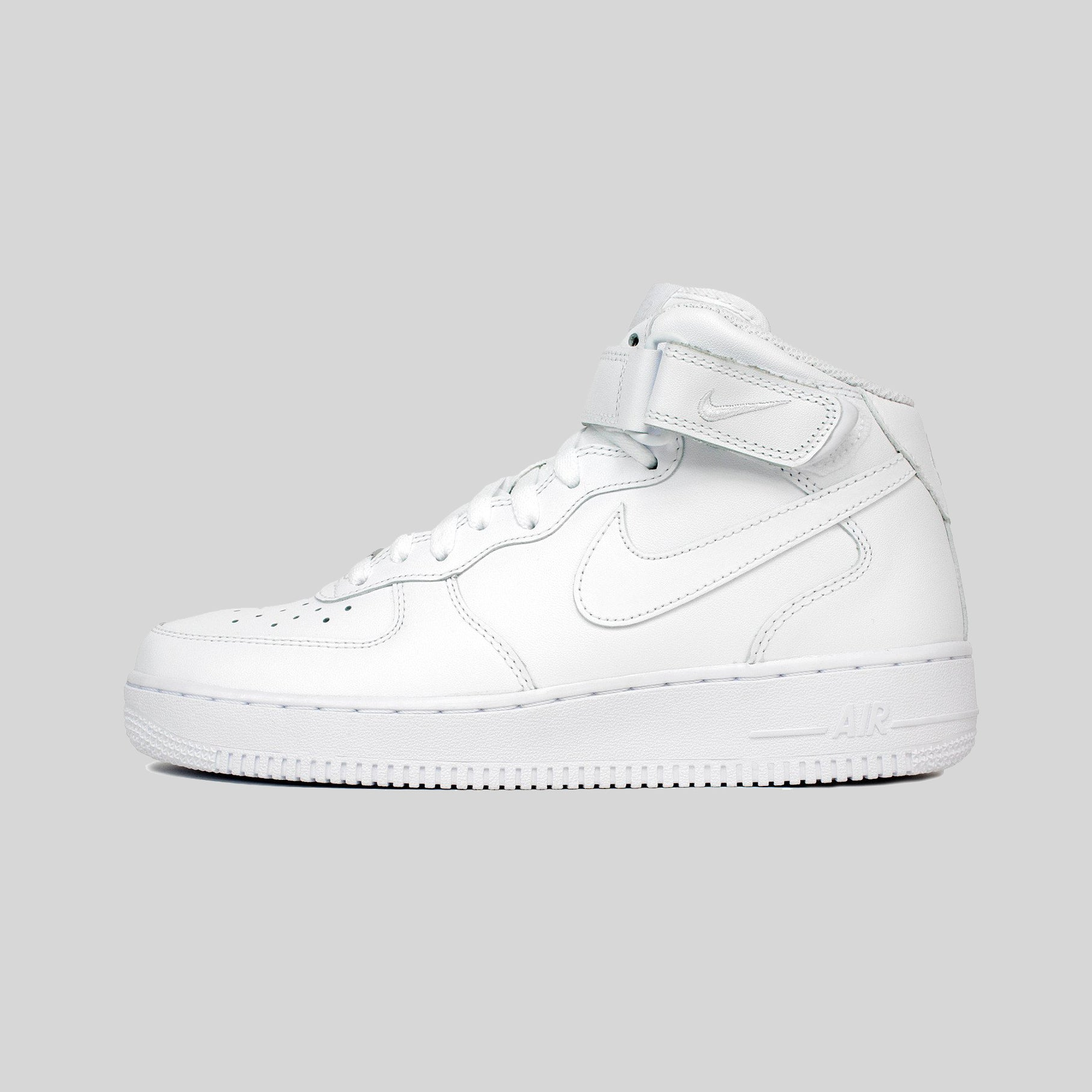 Nike AIR FORCE 1 MID  07 ALL WHITE LEATHER (315123-111)  a5e20bda07