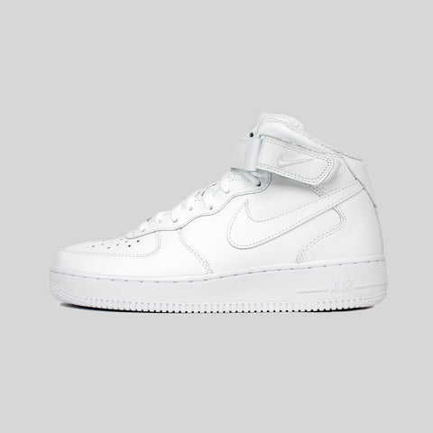 Nike AIR FORCE 1 MID '07 ALL WHITE LEATHER
