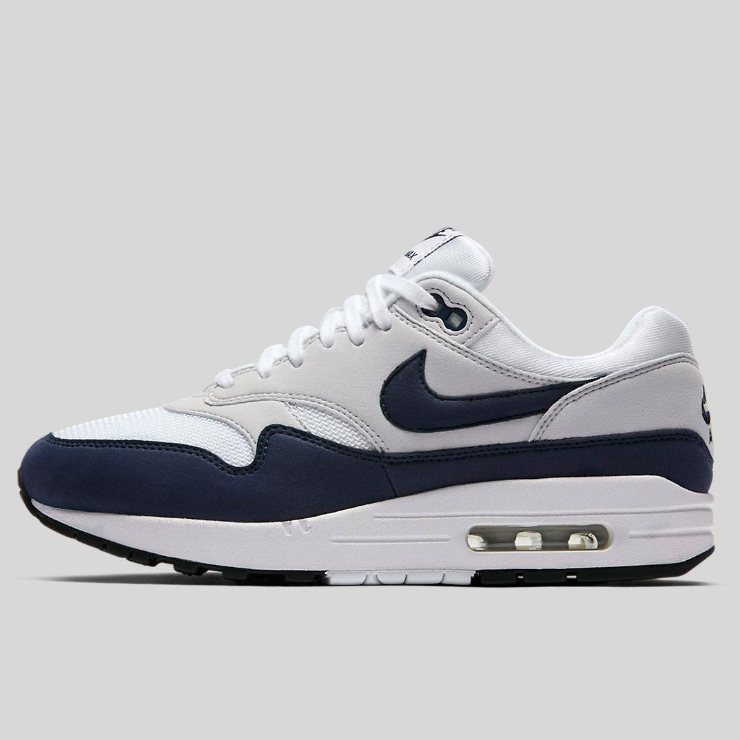 Womens Nike Air Max 1 319986-104 White/Obsidian Brand New Size 5