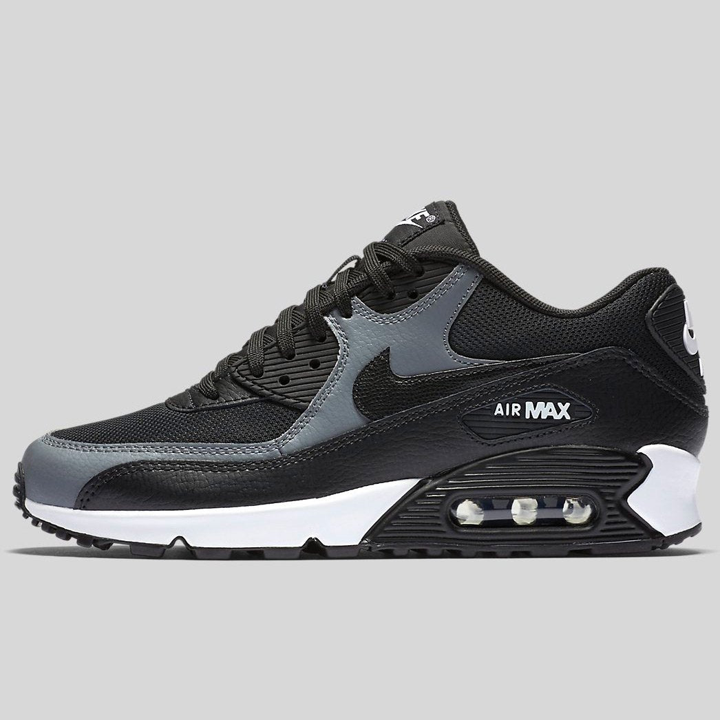 new arrival 0c3f1 119db Nike Wmns Air Max 90 Black Black-Cool Grey-Black (325213-037