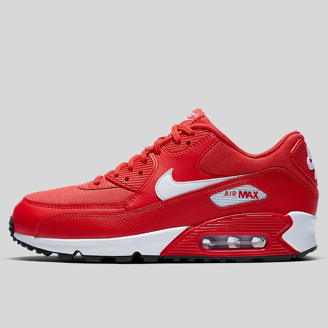nike air max 90 red and white