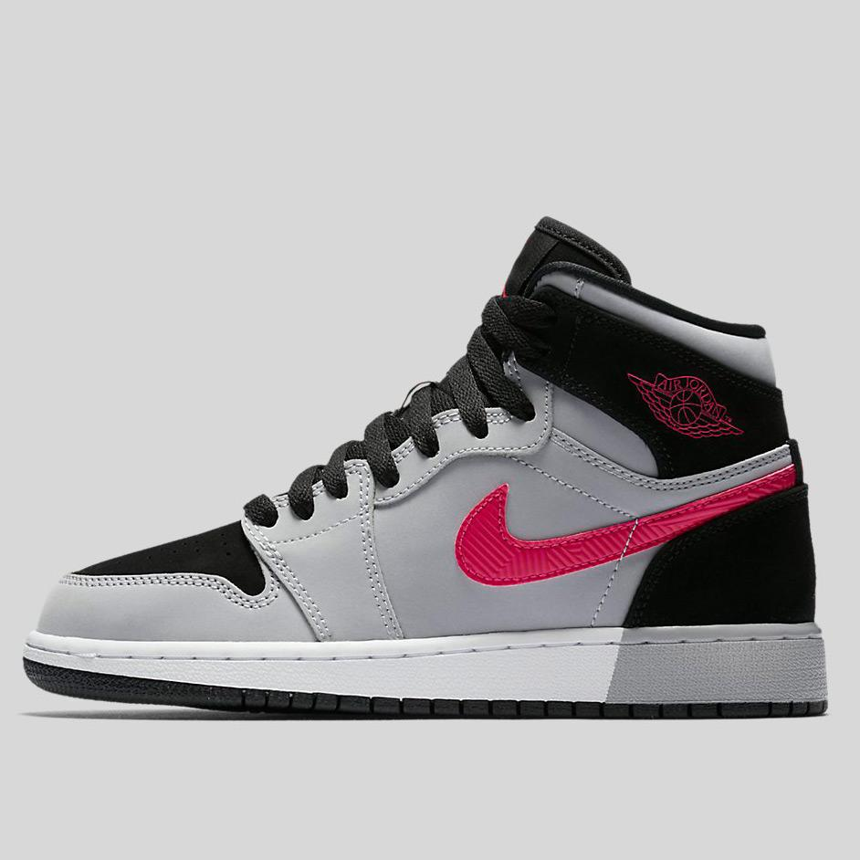 sports shoes 164f9 4c621 Nike Air Jordan 1 Retro High Gg Black Deadly Pink-Wolf Grey-White