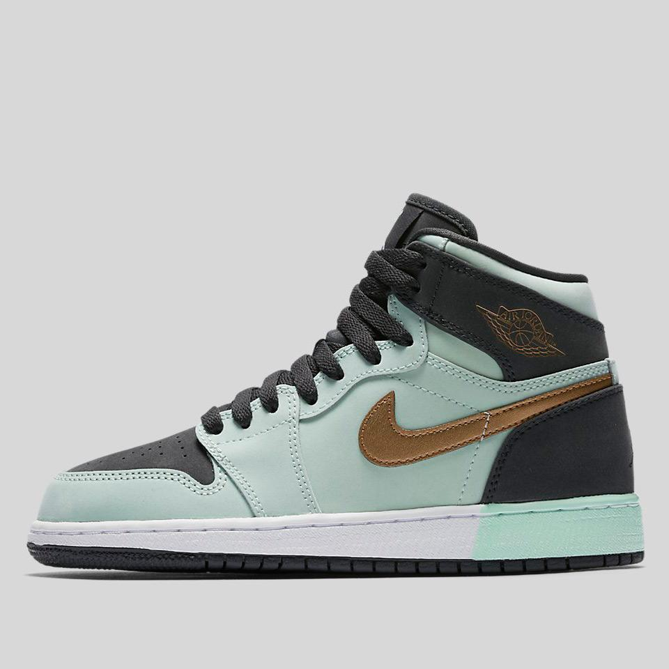 big sale 115ac ce2f2 Nike Air Jordan 1 Retro High Gg Mint Foam Metallic Gold-Anthracite-White (