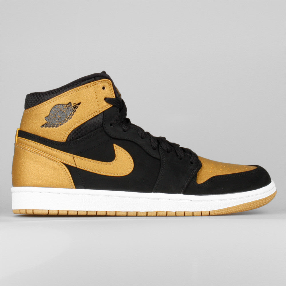 Nike Air Jordan 1 Retro High Melo Black Metallic Gold (332550-026 ... 400f75d08