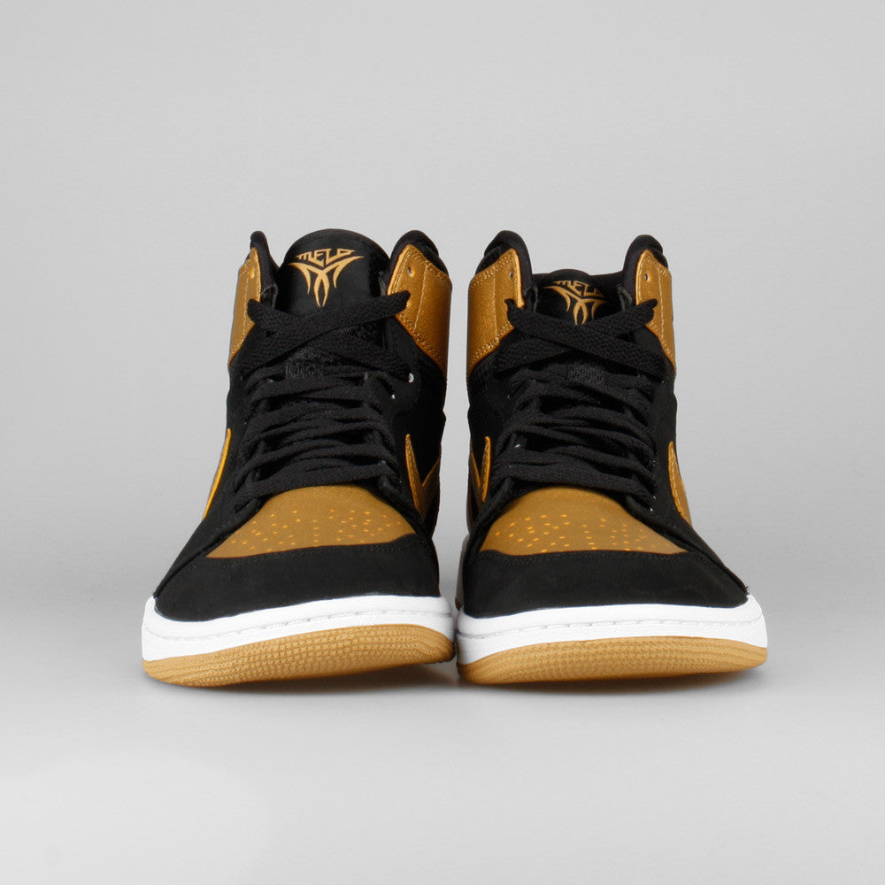 cheaper f9fe8 da4f8 Nike Air Jordan 1 Retro High Melo Black Metallic Gold. Item Number: 332550- 026