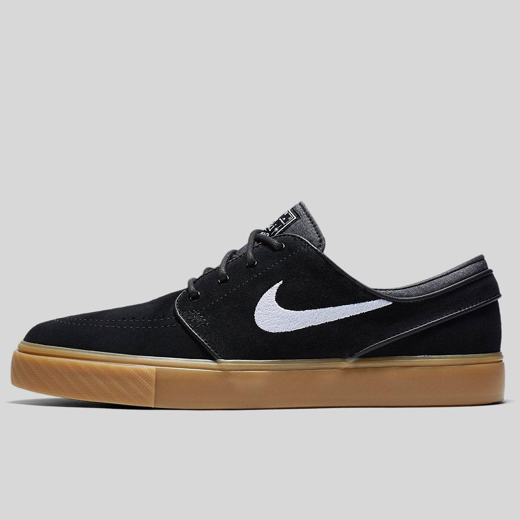 100% top quality casual shoes another chance Nike ZOOM STEFAN JANOSKI Black White Gum Light Brown