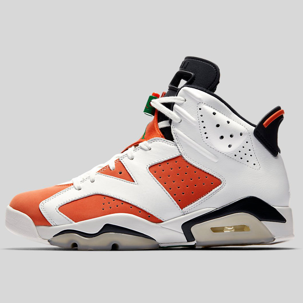 reputable site e7f26 eb0c4 Nike AIR JORDAN 6 RETRO Gatorade Summit White Team Orange-Black  (384664-145)   KIX-FILES