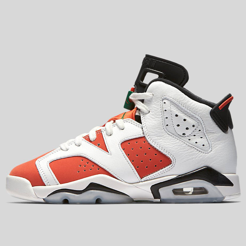 huge discount e5cfe f8098 Nike AIR JORDAN 6 RETRO BG Gatorade Summit White Team Orange-Black  (384665-145)   KIX-FILES
