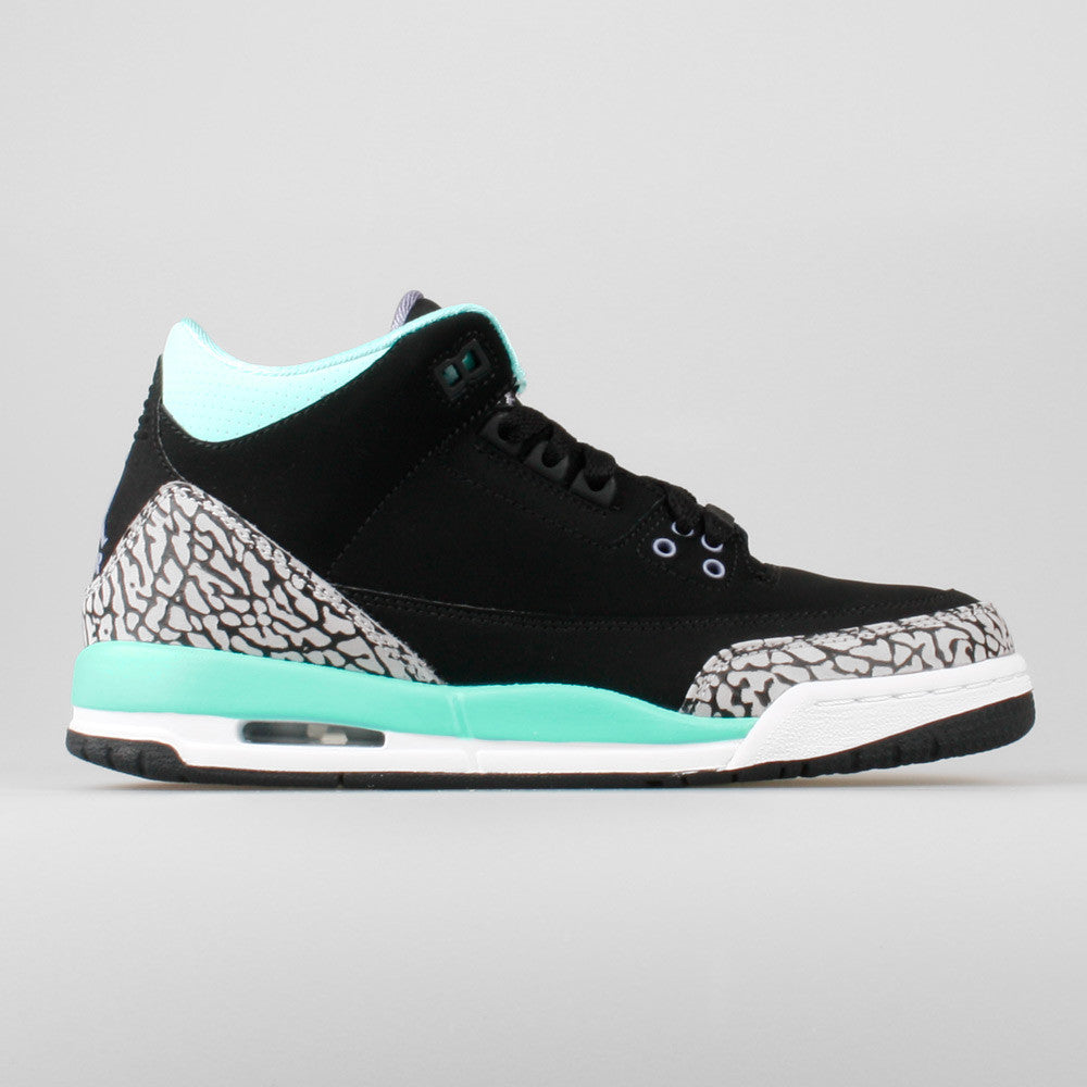 info for 6a906 b4401 Nike Air Jordan 3 Retro GG (GS) Black Bleached Turquoise (441140-045 ...