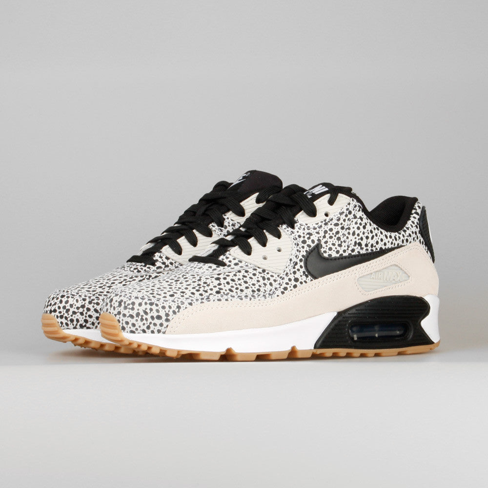 womens air max 90 safari white black gum light brown