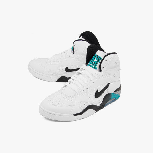 611b2585a9 Nike Air Force 180 Mid White Grey Blue Emerald (537330-100) | KIX-FILES